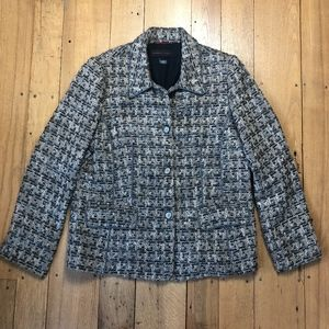 Nina Mclemore Silk Lined Tweed Blazer